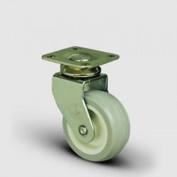 4 Adet EB01ZKC50, Oynak Tablalı PVC Kaplı Mobilya Tekerleği, Sehpa Tekeri, Çap:50, 4lü Set - Thumbnail