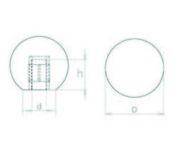 TB4010 Bakalit Topuz/Küre Çap:40 M10 - Thumbnail