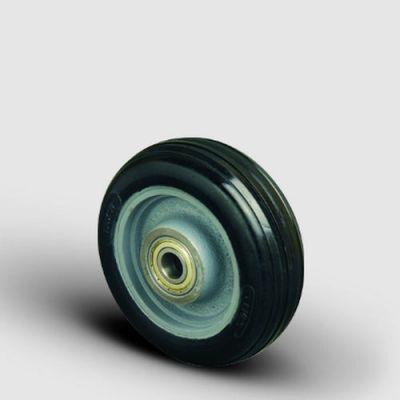 EMES - VBR150x50 Döküm Üzeri Kauçuk Kaplı Çap:150 Bilya Rulmanlı Tekerlek