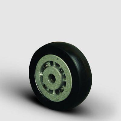 EMES - VBR220x60 Döküm Üzeri Kauçuk Kaplı Çap:220 Bilya Rulmanlı Tekerlek