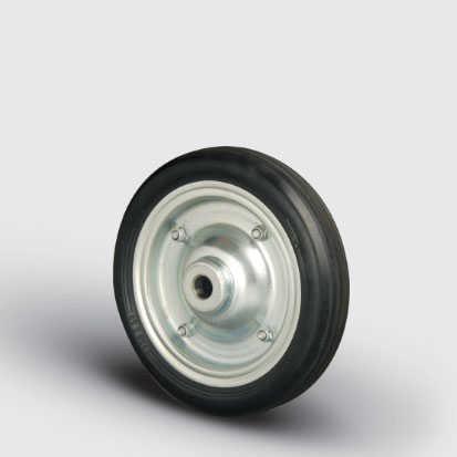 SBR250x50 Sac Jantlı Kauçuk Kaplı Çap:250 Bilya Rulmanlı Tekerlek Genişlik:50