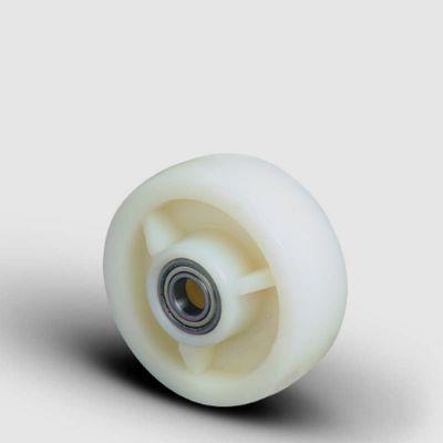 EMES - HBZ 125x40 Poliamid Tekerlek Çap:125 Bilya Rulmanlı Genişlik:40 Ağır Tip Kemik Tekerlek