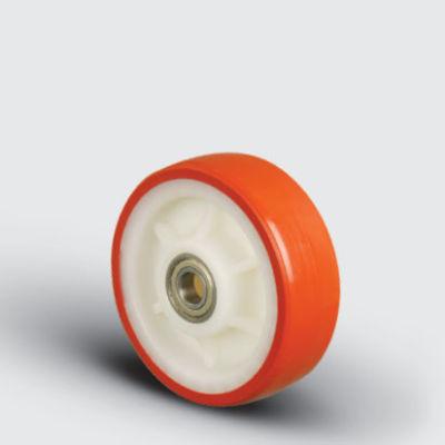 EMES - ZBP200x50 Poliamid Üzeri Poliüretan Kaplı Çap:200 Bilya Rulmanlı Tekerlek