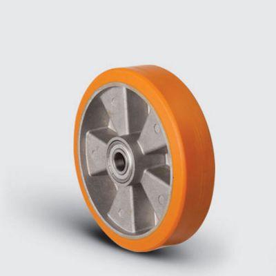 EMES - ABP200x50 Alüminyum Üzeri Poliüretan Transpalet Tekerleği, Çap:200, Bilya Rulmanlı