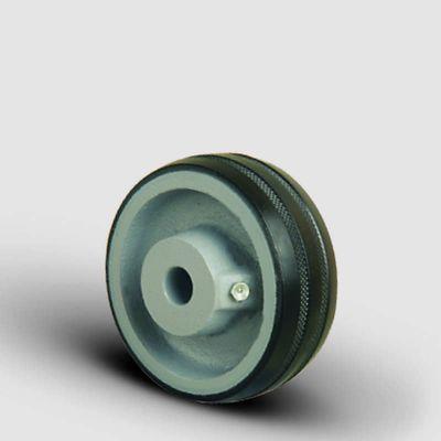 EMES - VKR150x45 Döküm Üzeri Kauçuk Kaplı Çap:150 Burçlu Tekerlek