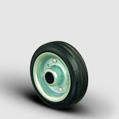 EMES - SPR125x37,5 Sac Jantlı Kauçuk Kaplı Çap:125 Burçlu Tekerlek Genişlik:37,5