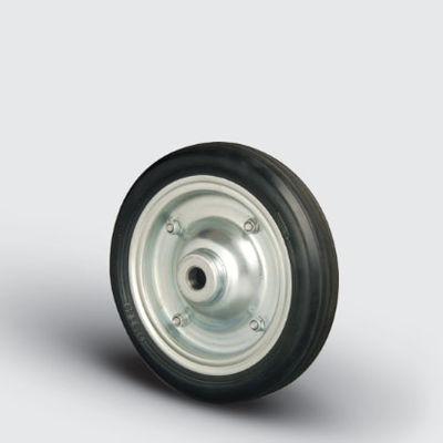 EMES - SPR250x50 Sac Jantlı Kauçuk Kaplı Çap:250 Burçlu Tekerlek Genişlik:50