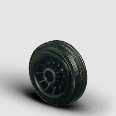 EMES - MKR125x37,5 Plastik Jantlı Kauçuk Kaplı Çap:125 Burçlu Tekerlek Genişlik:37,5