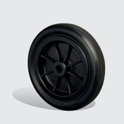EMES - ZKR250x50 Plastik Jantlı Kauçuk Kaplı Çap:250 Burçlu Tekerlek