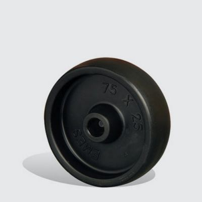 EMES - MKM38 Siyah Plastik Tekerlek Çap:38 Polipropilen Tekerlek Genişlik:14