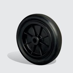 MKR200x40 Kırmızı/Sarı/Siyah Plastik Jantlı Kauçuk Kaplı Çap:200 Burçlu Tekerlek Genişlik:40 - Thumbnail