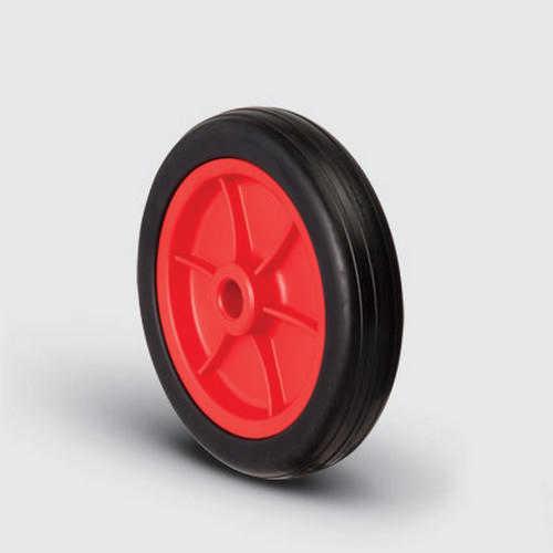 MKR200x40 Kırmızı/Sarı/Siyah Plastik Jantlı Kauçuk Kaplı Çap:200 Burçlu Tekerlek Genişlik:40