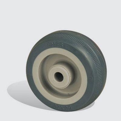 EMES - MKT50x20 Plastik Jantlı Termoplastik Kauçuk Kaplı Çap:50 Burçlu Tekerlek Genişlik:20