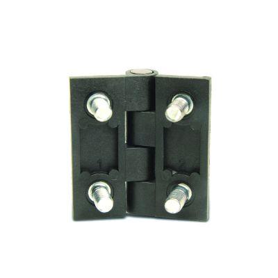 EMES - ZMCB5076 Civatalı Siyah Metal Menteşe 50x76 Delik Ekseni:30x56 M6x12 Civatalı Boyalı Zamak Menteşe