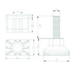 RT305010 Dikdörtgen Rotil Takım 30x50 M10 - Thumbnail