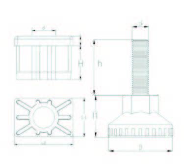 RT305010 Dikdörtgen Rotil Takım 30x50 M10
