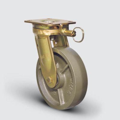 EMES - EA01VBV200Y Yön Kilitli Döküm Tekerlekli Çap:200 Ekstra Ağır Sanayi Tekerleği Bilya Rulmanlı