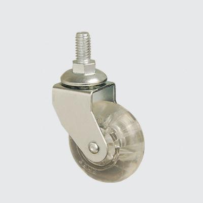 EMES - EB05DKP50 Civatalı Poliüretan Şeffaf Mobilya Tekerleği Çap:50 Oynak Civata Bağlantılı, Burçlu Sehpa Tekeri