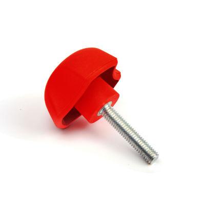 EMES - PYCK631240 Kırmızı Plastik Yonca Civatalı Çap:63 M12x40 Civatalı