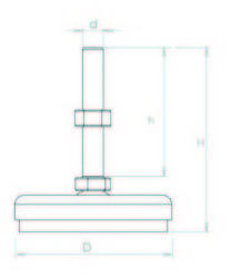 KKA601270 Krom Kaplı Ayak Çap:60 M12x70mm Civatalı
