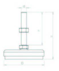 KKA601270 Krom Kaplı Ayak Çap:60 M12x70mm Civatalı - Thumbnail