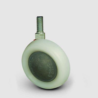 EMES - EN05AK70 Oynak Civata Bağlantılı Poliamid Tekerlek Çap:70 Tekstil Kova Tekeri Alüminyum Zamak Üzeri Poliamid Kaplı
