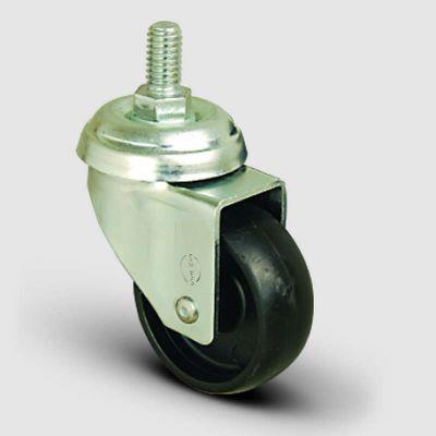 EMES - EP05MKM75 Oynak Civatalı Moblen Frenli Tekerlek Çap:75 Hafif Sanayi Tekerleği Oynak Vida Bağlantılı Burçlu Polipropilen Plastik Teker