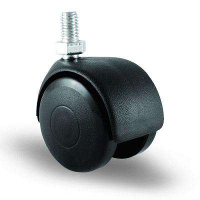 EMES - EC05MKM50 Civatalı Plastik Mobilya Tekerleği Çap:50 Oynak Civata Bağlantılı, Burçlu Koltuk Tekeri