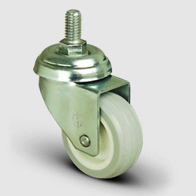 EMES - EP05ZKC75 Oynak Civatalı PVC Kaplı Tekerlek Çap:75 Hafif Sanayi Tekerleği Oynak Vida Bağlantılı Burçlu Poliamid üzeri PVC Kaplı Teker