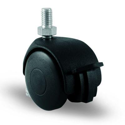 EMES - EC05MKM50F Civatalı Frenli Plastik Mobilya Tekerleği Çap:50 Oynak Frenli Civata Bağlantılı, Burçlu