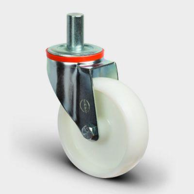 EMES - EM03ZKZ100 Oynak Pimli Poliamid Tekerlek Çap:100 Hafif Sanayi Tekerleği Burçlu Pim Bağlantılı Teker