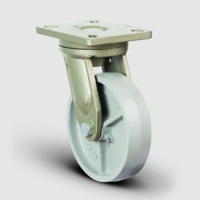 EMES - EV01VBV250 Döner Tablalı Döküm Tekerlekli Çap:250Ekstra Ağır Sanayi Tekerleği Bilya Rulmanlı