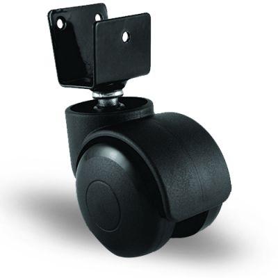 EMES - EC08GMKM50 U Tablalı Plastik Mobilya Tekerleği Çap:50 Oynak U Tabla Bağlantılı, Geniş Tip, Burçlu