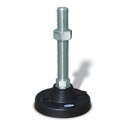 EMES - PAS122415 Sabit Plastik Ayak Çap:125 M24x150mm Civatalı