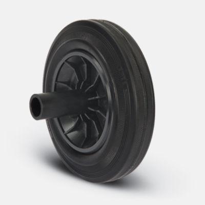 EMES - MK200X50P Pim Bağlantılı Burçlu Kauçuk Çöp Konteyner Tekerleği Çap:200