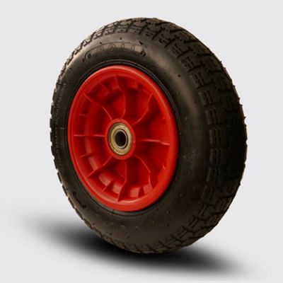 ROLI - MBRH3.50-7x20 2pr Plastik Jantlı Havalı Tekerlek, Çap:340 Bilya Rulmanlı, Plastik Şişme Tekerlek