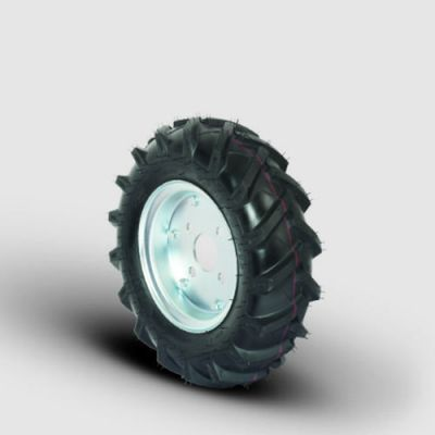 EMES - T-SKRH4.00-8x100 2.75mm Poryalı, Traktör Desen Havalı Teker Çap:420, Porya Jantlı 4 Kat Şişme Tekerlek, Delik:100