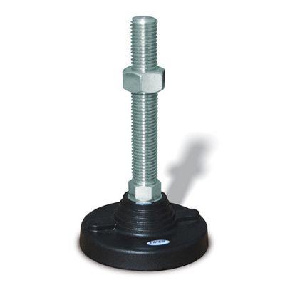 EMES - PAS122015 Sabit Plastik Ayak Çap:120 M20x150mm Civatalı