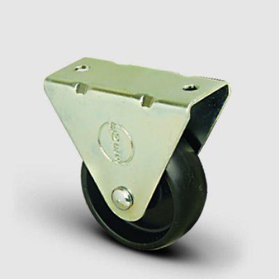 EMES - EP02MKM100 Sabit Maşalı Polipropilen Tekerlek Çap:100 Hafif Sanayi Tekerleği,Sabit Tabla Bağlantılı, Burçlu