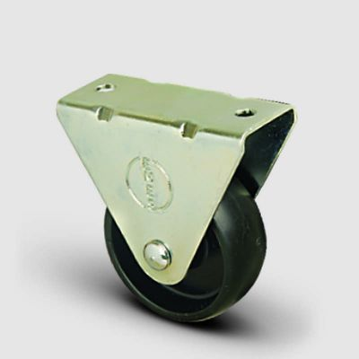 EMES - EP02MKM50 Sabit Maşalı Polipropilen Tekerlek Çap:50 Hafif Sanayi Tekerleği,Sabit Tabla Bağlantılı, Burçlu