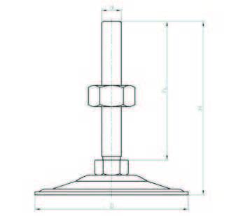 SA102015 Sac Ayak Çap:100 M20x150mm Civatalı