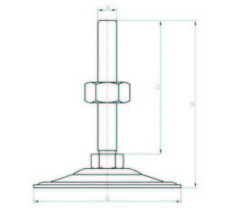 SA102015 Sac Ayak Çap:100 M20x150mm Civatalı - Thumbnail