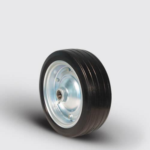 SBR300x100x25 Kauçuk Kaplı Çelik Jantlı Tekerlek, Çap:300, Bilya Rulmanlı