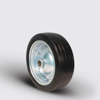 EMES - SBR300x100x25 Kauçuk Kaplı Çelik Jantlı Tekerlek, Çap:300, Bilya Rulmanlı