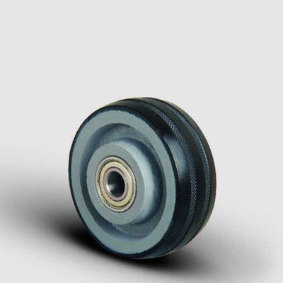 EMES - Bilya Rulmanlı, Döküm Üzeri Kauçuk Kaplı Tekerlek Çap: 125 - VBR 125x40